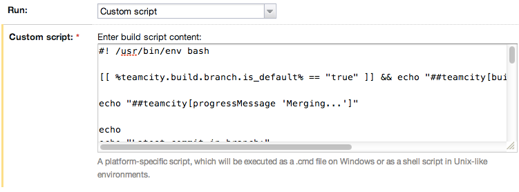 Accessing TeamCity Build Parameters from Node js